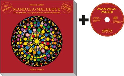 Mandala-Malblock mit Musik