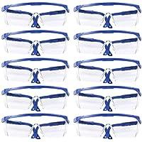 BESPORTBLE 10 Piezas Gafas Desechables Gafas Anti Salpicaduras Anti Arena Gafas Protectoras para Los Ojos Gafas Protectoras para Montar Al Aire Libre (Azul)