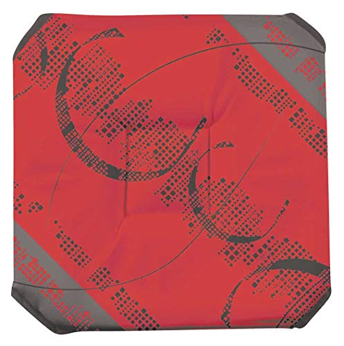 Galette de chaise anti-taches à rabats Astrid rouge