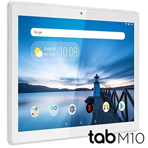 """Lenovo TAB M10 Tablet, Display 10.1\"""" HD, Prozessor Qualcomm Snapdragon 429, 32GB erweiterbar auf bis zu 128GB, 2GB RAM, WiFi, Android Oreo, Weiß (Polarweiß)"""