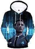 OLIPHEE Hombre Sudaderas con capuchacon 3D Impresa de Detroit: Become Human para Unisex Hei-XL-A
