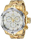 INVICTA MEN'S VENOM GOLD-TONE STEEL BRACELET & CASE SWISS QUARTZ WATCH 23893