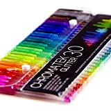 Glitter Pens 60 Set by Chromatek. Best Colors. 200% the Ink: 30 Gel Pens, 30 Refills! Super Glittery Ultra Vivid Colors! No Repeats. Pro Art Pens. Loved by Adults and Children. Perfect Gift!