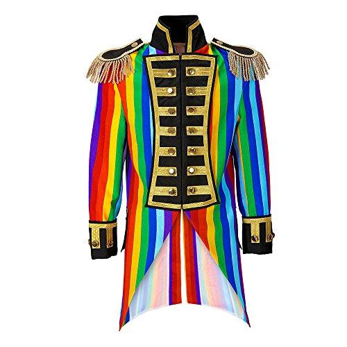 Widmann 59333 - Herren Frack Rainbow Parade kostüm, -