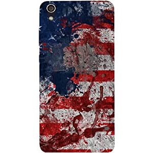 Casotec Painting American Design Hard Back Case Cover for Lenovo S850