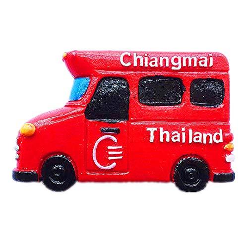 Song Auto See-Lor Chiang Mai Thailand 3D Kühlschrank Kühlschrankmagnet Reisestadt Souvenir Collection Küche Dekoration Whiteboard Aufkleber Harz (Songs Halloween Besten Zu Die)