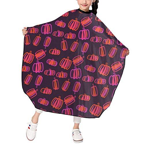 Friseursalon Haarschneideumhang dhdhgdfj Halloween Pumpkin Pattern Kids Girls Barber Hair Cutting Cape for Hair Stylist Salon Shampoo (Kleinkinder Halloween-projekte Für)