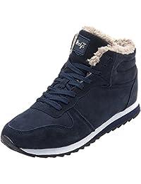 ec14c22a781f wealsex Basket Fourré Chaude Sneakers Suédé Hiver Confort Chaussure Casual  Hiver Sport Running Femme Homme Unisexe