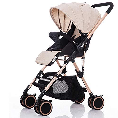 CDREAM Kinderwagen Zusammenfaltbar Baby Carriage Ab 6 Monate Bis 25 Kg Reise Buggy Mit Liegeposition Und Klappbar Baby Wagen,Beige(B)