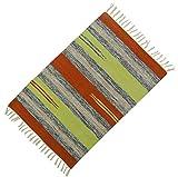 Streifenmuster Wurf Läufer Teppich Baumwolle Hand Jute-Matte Bodenteppich Dari 36 Gewebt x 24