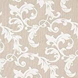 Fabulous Fabrics Dekostoff Jaquard Leo - grau/Creme -