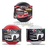 EZ-Lip Spoiler Spoilerlippe Gummi Lippe Frontspoiler (Eintragungsfrei) für viele Fahrzeuge (freie Farbwahl),Farbe:Schwarz