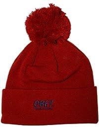 Obey - Bonnet Homme Worldwide Pom Pom Beanie - Red