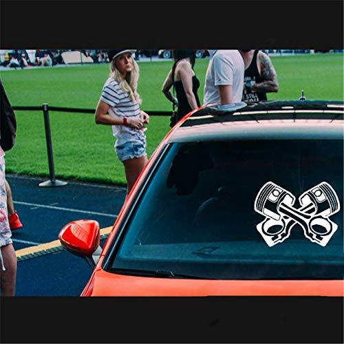 Auto Aufkleber Katze 17.6X13.2Cm Motorkolben Scratch Occlusion Abziehbild-Auto-Aufkleber Zubehör für Aufkleber Auto Laptop Fenster