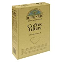 If You Care Number 4 Cone Brown Coffee Filter - 100 per pack -- 12 packs per case.