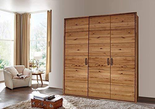Armoire/Penderie 184x60x219cm - Bois massif de chêne sauvage huilé - Design rustique - JANGALI #934