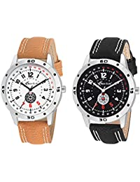 Rich Club RC-88ORN/BLK Combo Of Two Analog Watches For Men And Boys