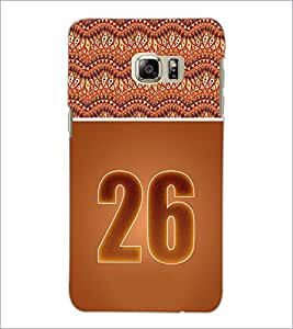 PrintDhaba Numerology Number 26 D-3661 Back Case Cover for SAMSUNG GALAXY NOTE 5 EDGE (Multi-Coloured)