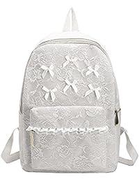 Rrimin Women Fashion School Students Lace High-Capacity Bags Backpacks