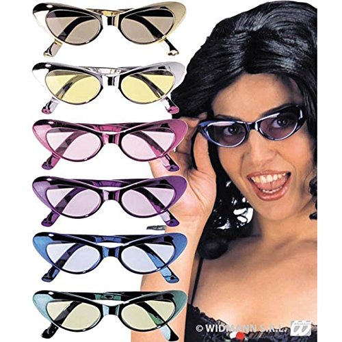 Unbekannt Aptafêtes-Ac1080/ASS-Brille Glitter Cat 's Eyes UV400