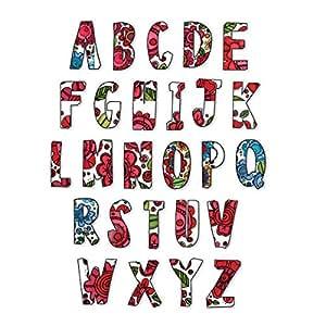 "Sizzix Framelits Dies 26/Pkg-In Bloom Alphabet 1.375"""