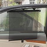 JASNO Auto Windschutzscheibe Sonnenschirm, Blockiert UV-Sonnenblende Um Ihr Fahrzeug Kühl Zu Halten, Retractable Saugnapf Einfach Zu Bedienen (2 Stück)
