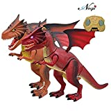 #8: Negi Battery Operated Flap Wing Remote Control 20.8inch Walking Dinosaur with Led Lights and Sounds( Color May Vary) Any One