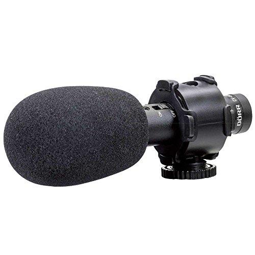 """Dörr CV-04 Microphone de caméscope avec Fil Noir - Microphones (Microphone de caméscope, -30 DB, 60-18000 Hz, Cardioïde, avec Fil, 3,5 mm (1/8""""))"""