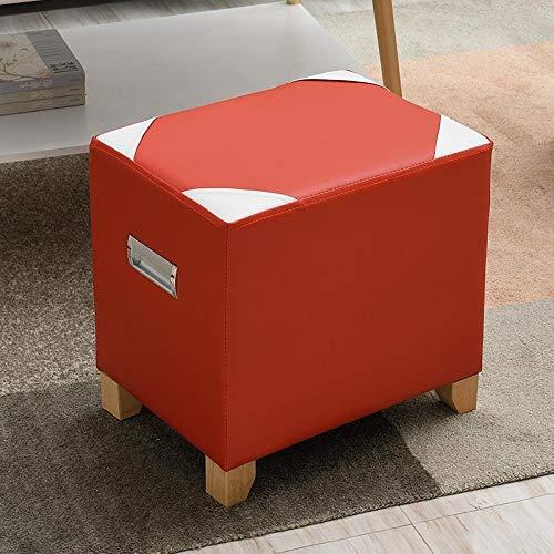 2 Cube Osmanischen (YSNUK Kleiner Hocker Osmanische Cube/Fußstütze Hocker/Puppy Step/Couchtisch Mit Loch Griff, Kunstleder / 15.7x11.8x15.7inches Osmanen, Lounge, Büro (Color : Style 2))