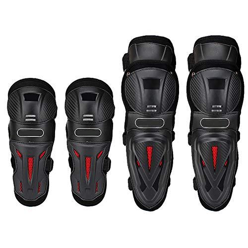 CXYY 4 Teiliges Set Bequeme Atmungsaktive Knieschoner & Ellbogenschoner ABS-Material Ellbogenschoner/Knieschoner Hochwertiger Motorrad-Knieschoner & Ellbogenschoner