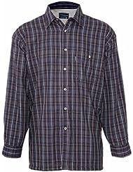 Doublure en polaire à manches longues pour homme Coton Carreaux écossais Pays Shirt bleu ou vert Tailles S-XXL