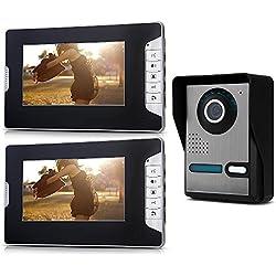 """SODIAL (R) 7 """"Color-TFT-LCD 2 Monitor Videoportero intercomunicador del timbre del IR"""