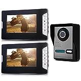 SODIAL (R) 7 'Color-TFT-LCD 2 Monitor Videoportero intercomunicador del timbre del IR