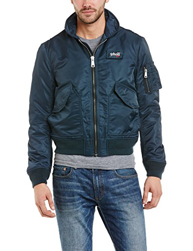 Schott (Brand National) - 210-100, Giacca da uomo, blu (Blue  (Navy)), Small