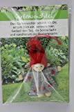 JoJo, Wichtel Arts, J023-070, Glückswichtel, Gartenwichtel, Filz, grau, 8cm