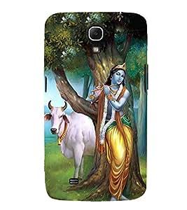 FUSON Kishna Playing Murali Cow 3D Hard Polycarbonate Designer Back Case Cover for Samsung Galaxy Mega 6.3 I9200 :: Samsung Galaxy Mega 6.3 Sgh-I527