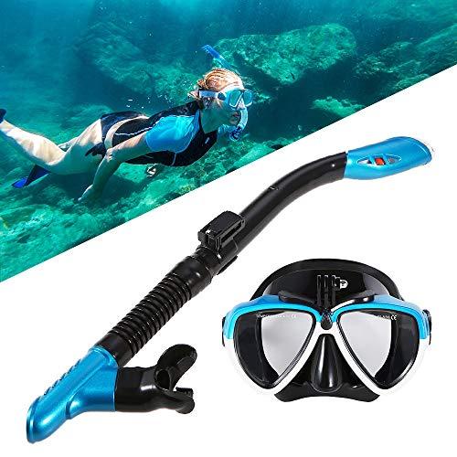JVSISM Conjunto De Gafas De NatacióN Tubo Respirador De Buceo MáScara De Buceo En Seco Completo CáMara De Gafas De Equipo De Snorkel para Hombre Y Mujer