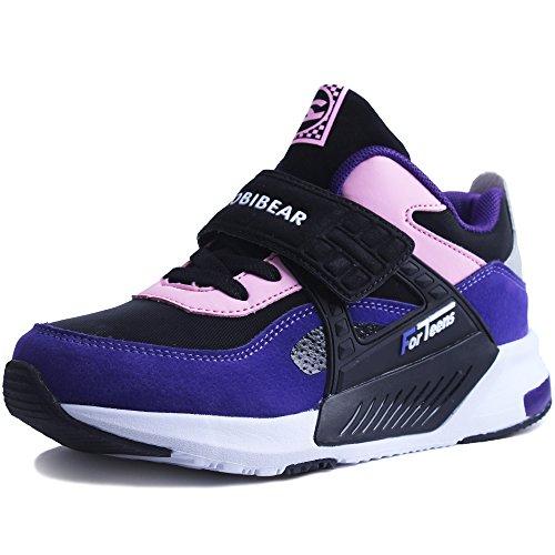 HAP JUMP Turnschuhe Jungen Mädchen Sportschuhe Kinder Hoch Sneaker Hallenschuhe Laufschuhe Outdoor Basketball Schuhe für Unisex-Kinder,Violett,35EU=36CN