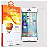 #2: Original Apple iPhone 5 / 5s / SE Tempered Glass Screen Protector Unbreakable Flexible Screen Guard With Installation Kit By Parallel Universe - Transparent
