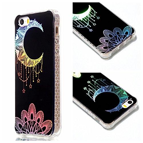 COOVY® Cover für Apple iPhone 5 / 5S / SE ultra dünne, bunte Designer TPU Silikon Bumper Hülle, Slim Schutzhülle, Case im Hologramm Design | Design 02