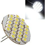 G4 24 SMD LED Spot Ampoule Lampe 1.5W 90lm DC 12V 6500-7500k blanc froid