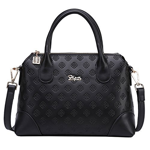 BOYATU Frauen Echtes Leder Handtasche Business Büro Mode Damen Umhängetasche Mädchen Top Griff Satchel Tote (Aus Echtem Leder Handtasche Eimer)