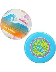 Wilson Volleyball und Frisbee, Outdoor, Freizeitspieler, Endless Summer Kit, Blau/ Bunt