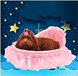 Covermason Bett Haustierbett für Hunde, Welpe, Katzen und Kleintiere (46*43cm, Rosa)