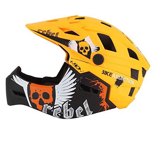 MPNP Fahrradhelm, Kinder-Vollhelm Mountainbike mit Rollschuh-Schutzwinker-Fahrrad-Laufwagen Sicherheitshut ausgestattet,B,M