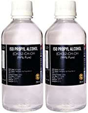 ISO Propyl Alcohol 99% Pure [(CH3)2-CH-OH] CAS: 67-63-0 (250ML) 2 Pc Combo