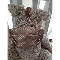Mund- und Nasen-Maske Punkte beige Baumwolle