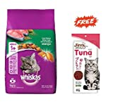 #10: Whiskas Adult Cat Food Pocket Tuna Flavour - 3 kg With Free Jerhigh Jinny Tuna Flavour Cat Snack - 35 gm Worth 110/- By Pawsitively Pet Care
