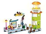 Funstones Bausteine Set Girls - Mädchen Figuren + Leuchtturm + Hafen Kai + Boot