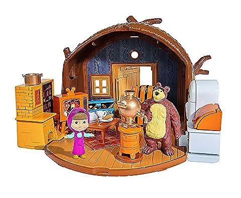 Simba, 109301632, Masha et Michka, Set de jeu Macha, + 2 Figurines et 15 Accessoires